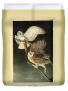 Barn Owls Duvet Cover