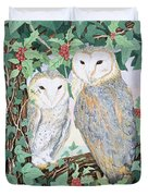 Barn Owls Duvet Cover by Suzanne Bailey
