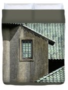 Barn Roofs At The Crane Estate Duvet Cover