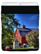 Barn With Out-sheds Brunner Family Farm Duvet Cover