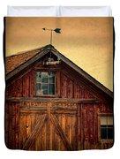 Barn With Weathervane Duvet Cover by Jill Battaglia