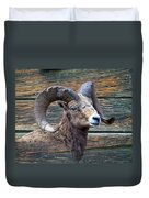 Barn Wood Bighorn Duvet Cover