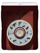 Barn Yard Clock Duvet Cover