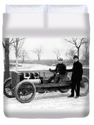 Barney Oldfield And Henry Ford Duvet Cover