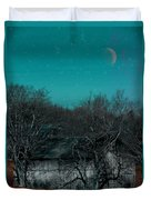 Barns-featured In Visions Of The Night Group Duvet Cover