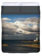 Barns Ness Lighthouse  East Lothian Duvet Cover