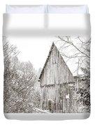 Barnyard Snowfall Duvet Cover