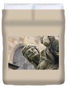 Baroque Statue Depicting Avarice Duvet Cover