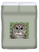Barred Owl 1 Duvet Cover
