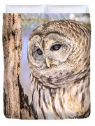 Barred Owl Watch Duvet Cover