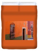 Barred Window, Mexico Duvet Cover