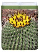 Barrel Cactus With Yellow Fruit Duvet Cover
