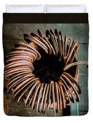 Barrel Of Horseshoes Duvet Cover