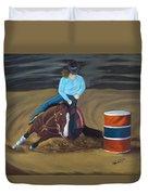 Barrel Racer Duvet Cover
