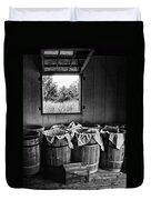 Barrels Of Beans - Bw Duvet Cover