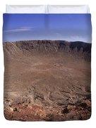 Barringer Crater, Fisheye View Duvet Cover