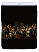 Bartholomeus Van Der Helst Banquet Of The Amsterdam Civic Guard In Celebration Of The Peace Of Munst Duvet Cover