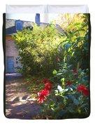 Bartram Red Flowers Duvet Cover