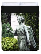 Barzaghi Memorial Side View II Detail Monumental Cemetery Duvet Cover