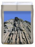 M-a5607-basalt Columns On Pilot Rock Duvet Cover
