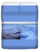 Basalt Rock, Berwick Upon Tweed Duvet Cover