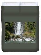 Base Of Thunder Creek Falls Duvet Cover
