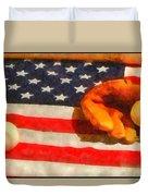 Baseball An American Pastime Duvet Cover