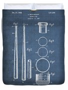 Baseball Bat By Lloyd Middlekauff - Vintage Patent Blueprint Duvet Cover