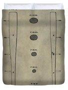 Baseball Bat Patent Duvet Cover by Dan Sproul