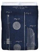 Baseball Bat Patent Drawing From 1921 Duvet Cover
