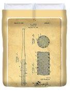Baseball Bat Patent Duvet Cover