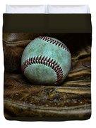 Baseball Broken In Duvet Cover