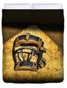 Baseball Catchers Mask Vintage  Duvet Cover