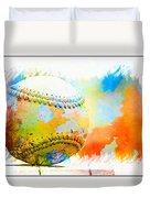Baseball- Colors- Isolated Duvet Cover