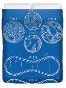 Baseball Construction Patent - Blueprint Duvet Cover by Nikki Marie Smith