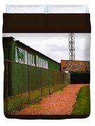 Baseball Field Bull Durham Sign Duvet Cover