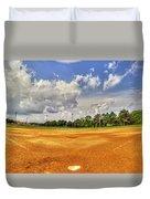 Baseball Field Duvet Cover
