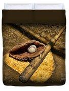 Baseball Home Plate Duvet Cover