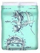 Baseball Mask Patent Blue Us2627602 A Duvet Cover