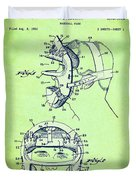 Baseball Mask Patent Green Us2627602 A Duvet Cover
