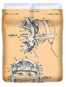 Baseball Mask Patent Orange Us2627602 A Duvet Cover