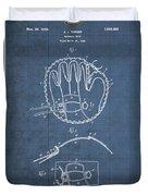 Baseball Mitt By Archibald J. Turner - Vintage Patent Blueprint Duvet Cover