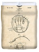 Baseball Mitt By Archibald J. Turner - Vintage Patent Document Duvet Cover
