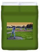 Baseball On Deck Circle Duvet Cover