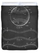 Baseball Patent Drawing From 1927 Duvet Cover