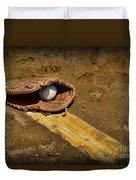 Baseball Pitchers Mound Duvet Cover