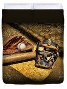 Baseball Play Ball Duvet Cover