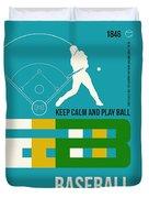 Baseball Poster Duvet Cover