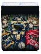 Baseball Vintage Gear Duvet Cover