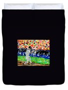 Bases Loaded  Duvet Cover by Mark Moore